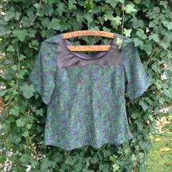 Sewing projects - Liberty print top