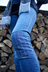 Customising - Patched denim jeans