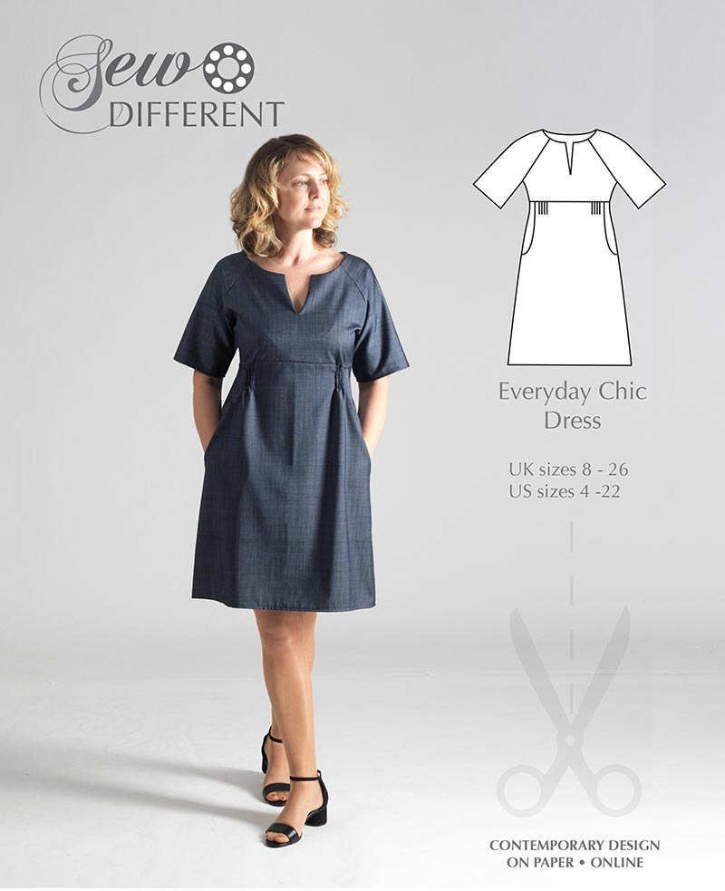Everyday Chic Dress – MULTISIZE SEWING PATTERN – Sew Different