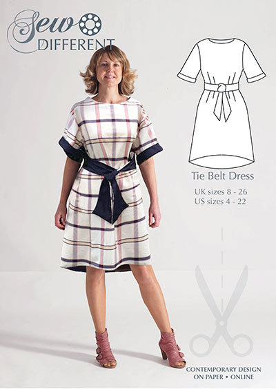 Tie Belt Dress – Multisize sewing pattern – Sew Different