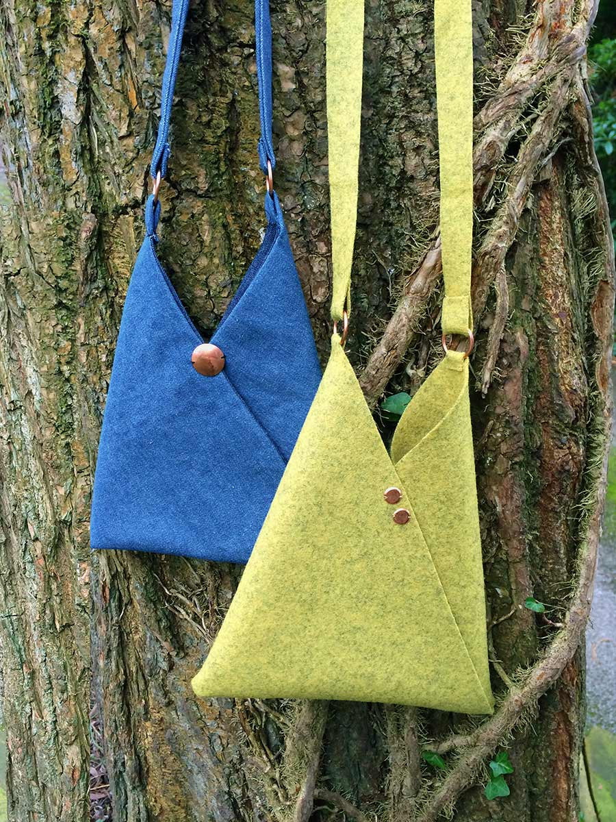 origami bag free sewing pattern