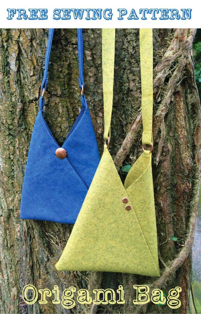 Make an Origami bag – Free sewing pattern