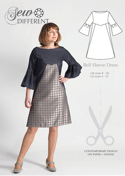Bell Sleeve Dress – multi-size sewing pattern