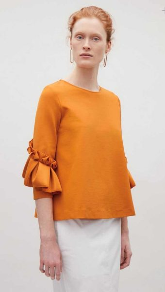 bell sleeve top from cos