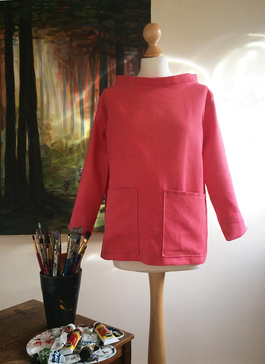 Artist's smock free sewing pattern