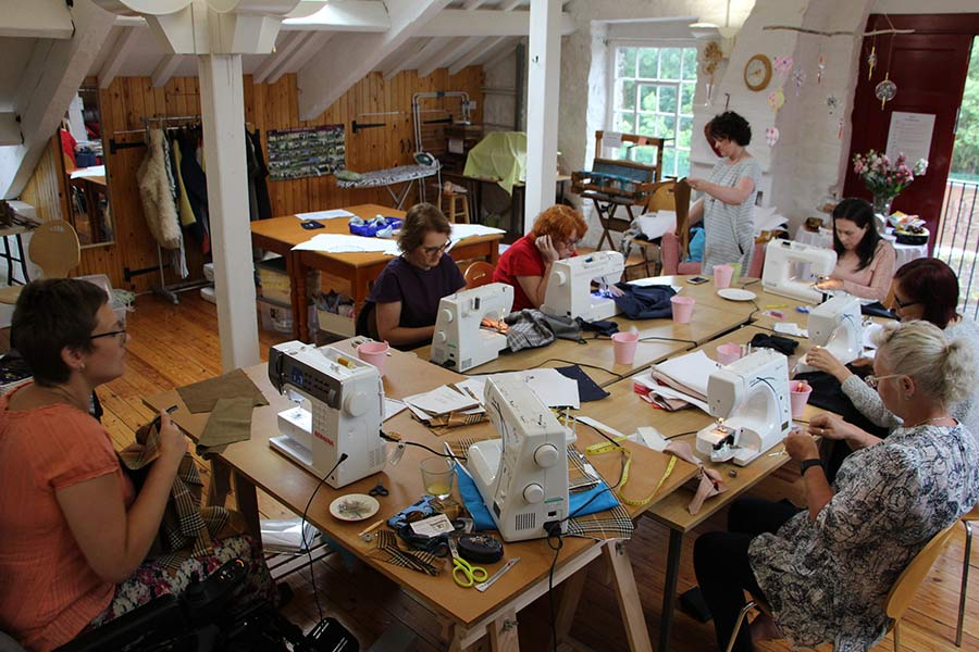 sewing retreat studio