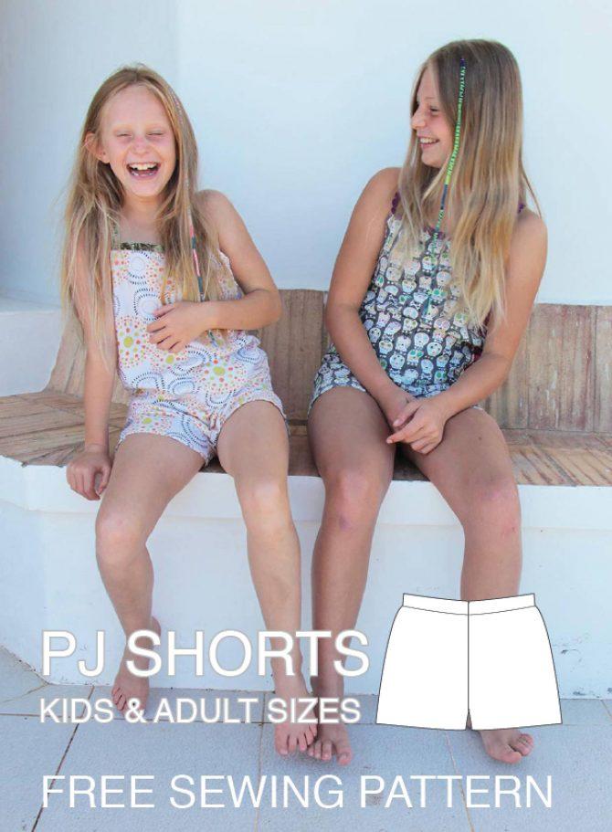 Shortie PJs – FREE sewing pattern
