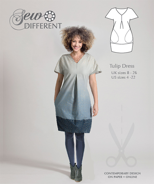 Tulip Dress – Multisize sewing pattern available on paper or to download