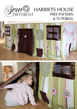 free playhouse sewing pattern