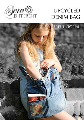 upcycled denim bag tutorial