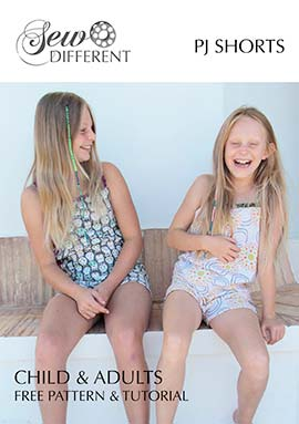 free sewing pattern for PJ shorts