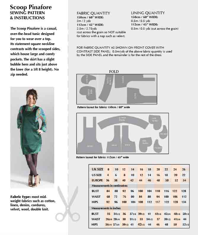 Scoop Pinafore sewing pattern – available on paper or to download ...